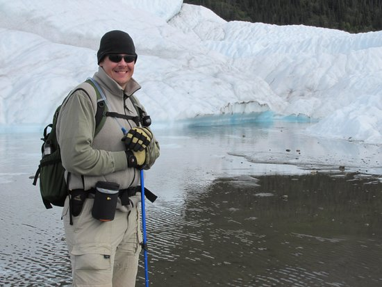 Kennicott Wilderness Guides: Standing in a glacial lake