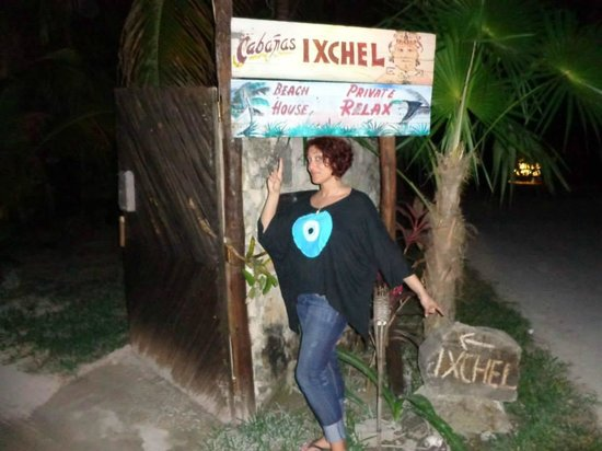 Ixchel Playa & Cabanas: The entrance sign to the grounds