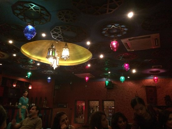 Anatolia Authentic Turkish Restaurant: Private dining area  So many lights
