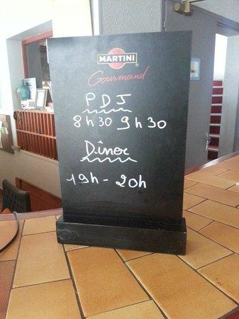 Hotel des Dunes : Horaires des repas