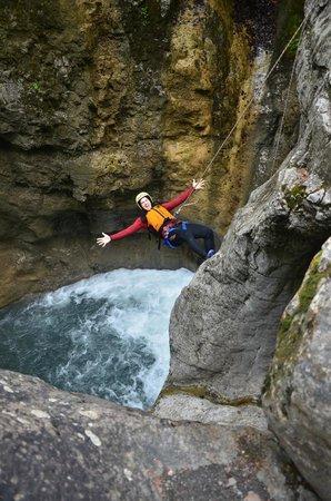 Alpin Raft : Repelling
