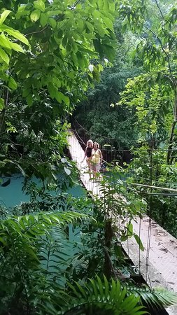 Hotel Las Caletas Lodge: suspension bridge nearby