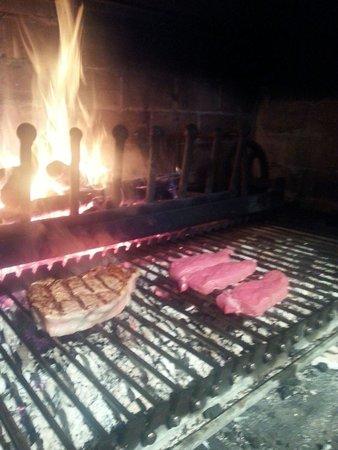 Trattoria Vecchio Mulino Brasserie: costata e scamoni. vitella piemontese