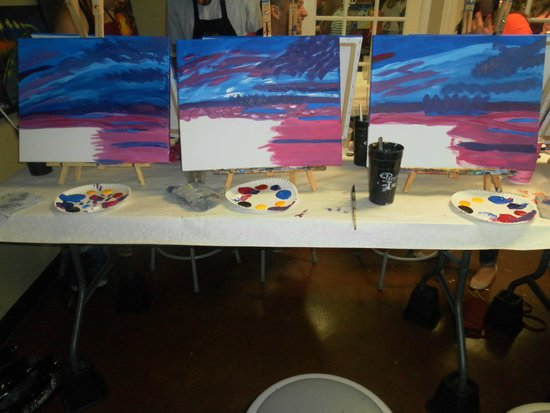 Clouds andar colums picture of painting with a twist for Painting with a twist locations near me