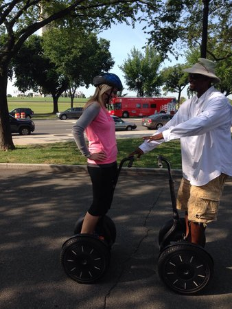 Private DC Segway Tours : Corey teaching my wife Amanda.  He did an awesome job, knew is history, made it fun and safe for