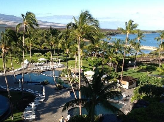 Waikoloa Beach Marriott Resort & Spa: View from end of North wing