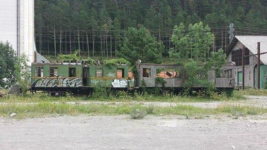 Estación Internacional de Canfranc: Wagon à l'abandon