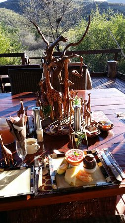 Zwartberg View Mountain Lodge: Love the displays which changes for every meal