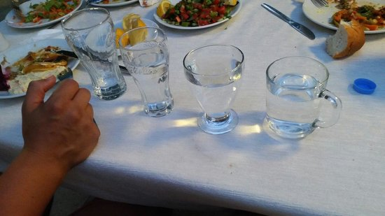 Atici Hotel: Atıcı Otelde akşam yemeği rezilligi yemekte dahi extra olan suların ve su bardaklarinin gelmesiy