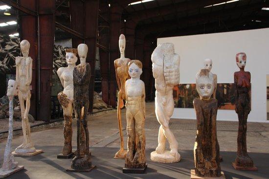 Kunstwerk Carlshutte : verschiedene Skulpturen