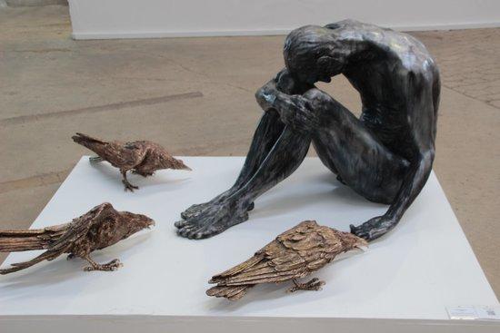 Kunstwerk Carlshutte : Nachdenklich