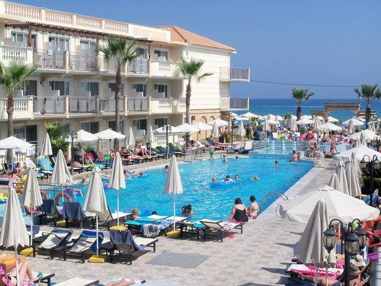 Zante Maris Hotel: Pool/Sea view from terrace.