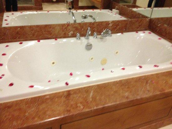 IC Hotels Airport : The bath, more rose petals