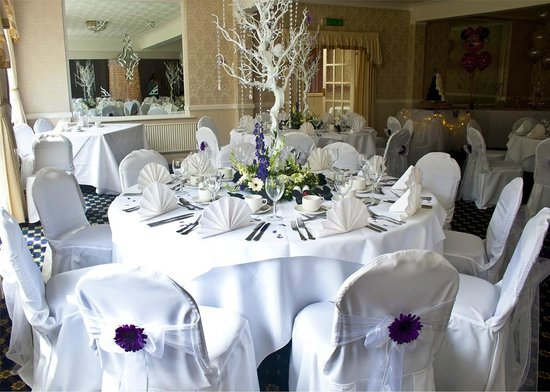 The Crown Hotel: Table Laid for Wedding.
