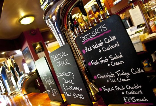 The Crown Hotel: Specials in the Bar