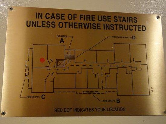 Mayfair Hotel: Emergency Exit Plan, 5th floor