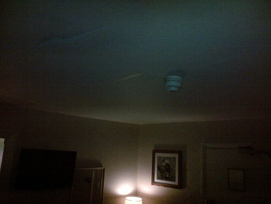 King's Arms Hotel: peeling ceiling paper