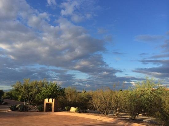 Canyon Ranch in Tucson: Monsoon skies!