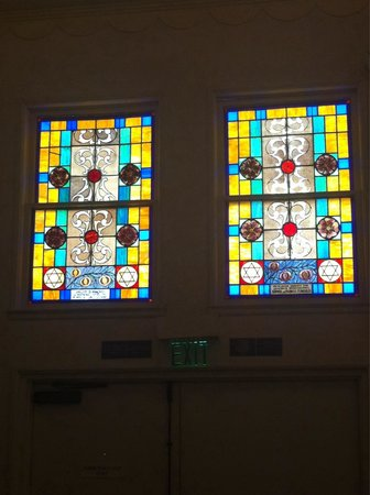 Jewish Museum of Florida - FIU: Lovely stained glass