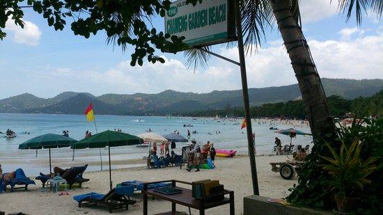 Chaweng Garden Beach Resort: Выход к морю