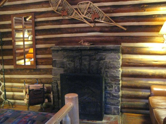 Storm Mountain Lodge & Cabins: Fireplace in Room