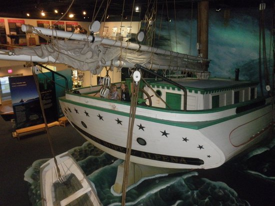 Thunder Bay National Marine Sanctuary: Replica Boat inside the Sanctuary