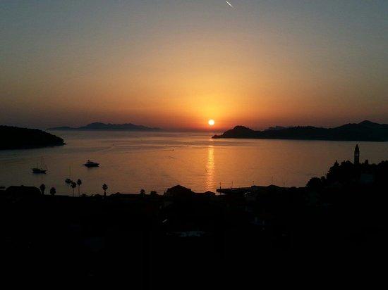 Lopud Island : Sun set on Lopud