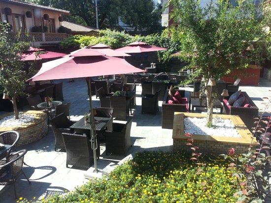 Red Wall Garden Hotel: Otra vista del jardin