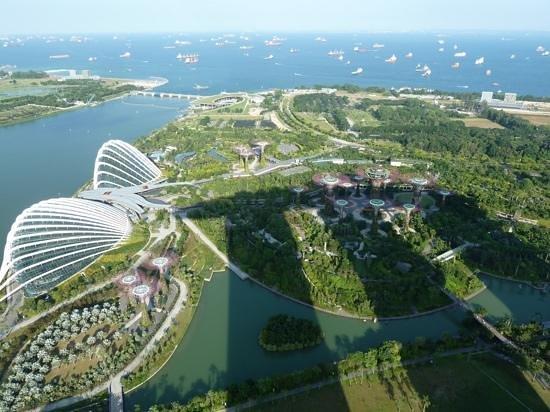 Novotel Singapore Clarke Quay: Skybar Marina Bay Sands hotel uitzicht