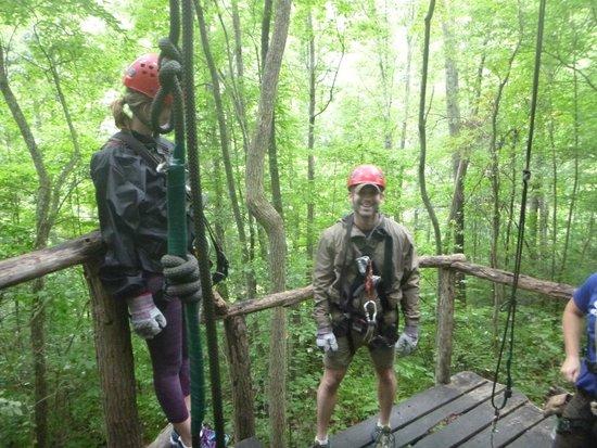 Navitat Canopy Adventures - Asheville Zipline : Having a blast!