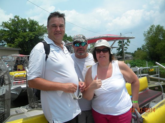 Airboat Adventures : Spouse and me with Capt. Stevie