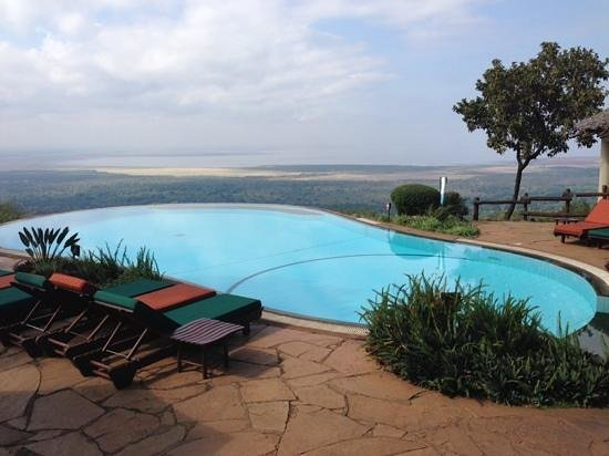 Lake Manyara Serena Lodge: another pool pic just because it was so darn beautiful!!