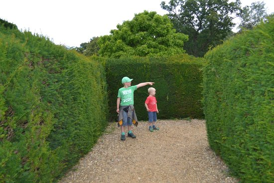 Somerleyton Hall and Gardens: Finally made it through the maze