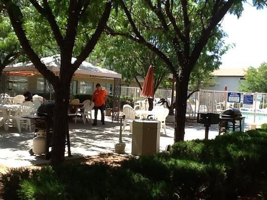 Motel 6 Holbrook: courtyard