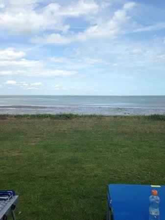 Seaview Holiday Park - Park Holidays UK: View from our tent!