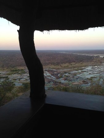 Olifants Rest Camp: the view from the left side of the terrace of Bungalow 14