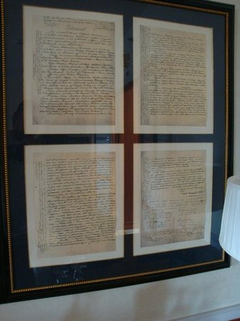 Grand Hotel: Nobel Peace Prize Document in the Nobel Suite
