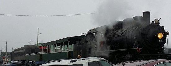 Oregon Coast Scenic Railroad: Engine and cars