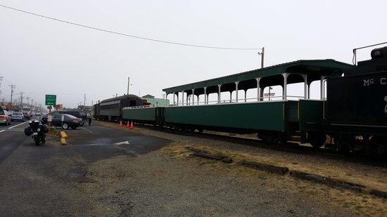 Oregon Coast Scenic Railroad: View of the cars