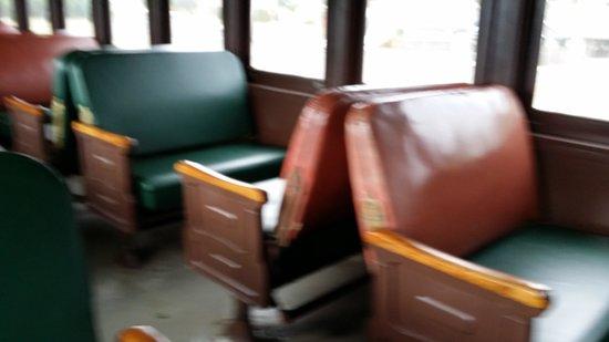 Oregon Coast Scenic Railroad: Indoor car seating