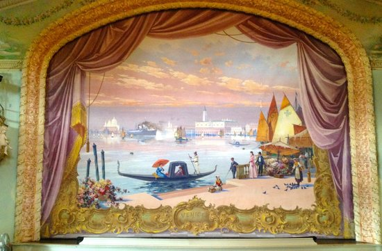 Haskell Free Library & Opera House: original painted curtain