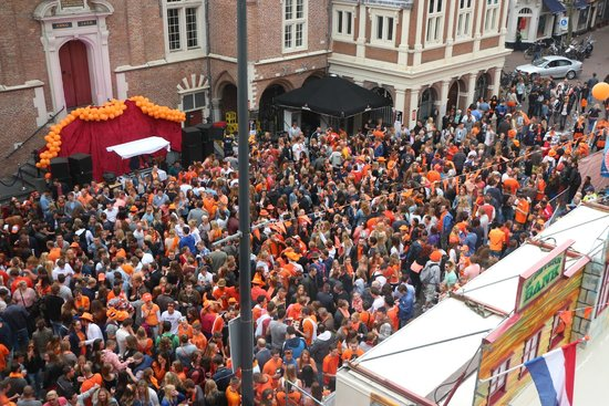 Hotel Amadeus: View from room-celebration of King's Day