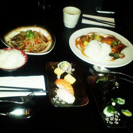 St. Sushi: Sushi and Teriyaki Salmon and Stir Fry