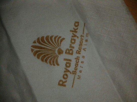 Royal Brayka Beach Resort : Serwetka firmowa