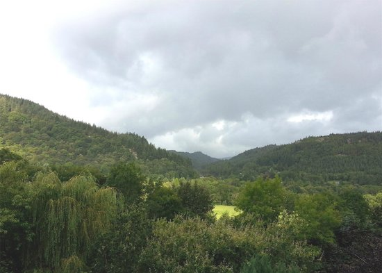 Maes-y-Garth : View from room 4,
