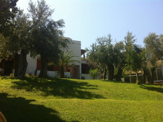 Idi Hotel: A part of the garden with a part of the hotel