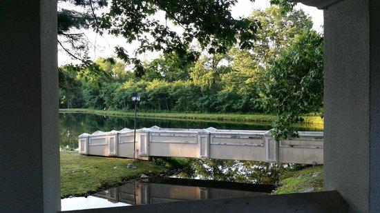 Paradise Stream Resort: Beautiful view except that bridge needs some work!