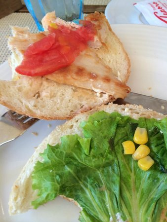 The contents of the 'chicken sandwich' from Trattoria Tezoro