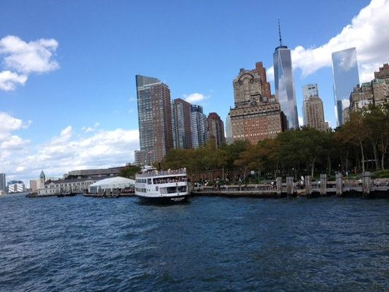 The Ritz-Carlton New York, Battery Park: View of hotel from boat