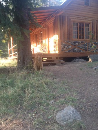 Minam River Lodge : Beautifully restored cabin. Awesome front porch.